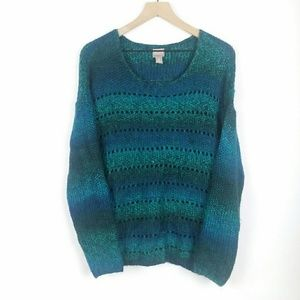 Chico's verigated mermaid colors knit sweater 2